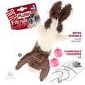 GiGwi Игрушка для собак Заяц-шкурка с 2-мя пищалками 47см