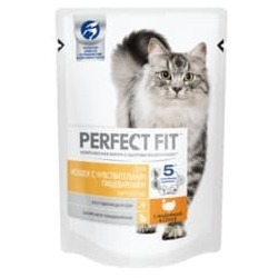 Perfect Fit Пауч для кошек с чувствительным пищеварением с индейкой в соусе