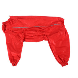 OSSO Дождевик для крупных пород собак Красный на девочку