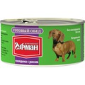 Четвероногий Гурман Готовый обед консервы для собак Говядина с рисом