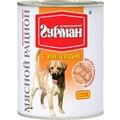Четвероногий Гурман Мясной рацион консервы для собак с Индейкой