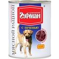 Четвероногий Гурман Мясной рацион консервы для собак с Печенью