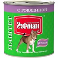 Четвероногий Гурман Паштет с Говядиной для щенков