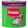 Четвероногий Гурман Паштет для собак с Говядиной