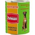 Четвероногий Гурман Готовый обед консервы для собак Индейка с рисом