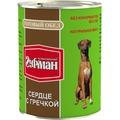 Четвероногий Гурман Готовый обед консервы для собак Сердце с гречкой