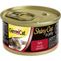 Консервы GimCat ShinyCat для кошек Цыпленок в желе