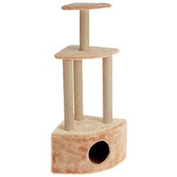 Smartpet Домик-когтеточка для кошек угловой, 3-ярусный 40х40х115см
