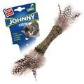 GiGwi Игрушка для кошек Johnny Stick прессованная мята перья с двух сторон