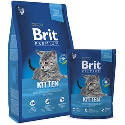 Brit Premium Cat Kitten сухой корм для котят Курица в лососевом соусе