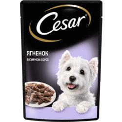 Cesar Пауч для собак с Ягненком в сырном соусе