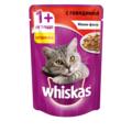 Whiskas Паучи для кошек мини-филе желе с Говядиной