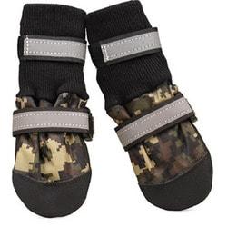 ForMyDogs Ботиночки-носочки текстил. водоотталкивающие, красные, усиленный мысок
