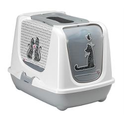 """Moderna Туалет-домик Trendy cat """"Влюбленные коты"""" с угольным фильтром и совком"""