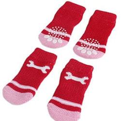 4 My Pets Носки для собак Косточка красные