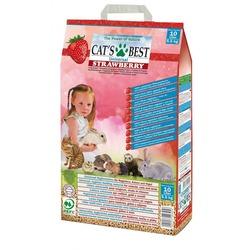 Cat`s Best Universal Strawberry наполнитель древесный впитывающий с ароматом клубники