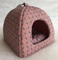 Бобровый дворик Домик поролоновый для собак и кошек Султан красный