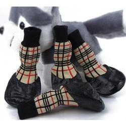 Smartpet Текстильные носки с латексным покрытием Шотландка светлая