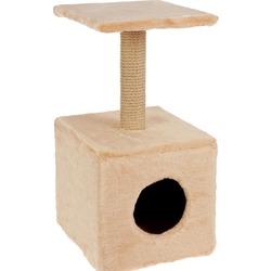 Smartpet Домик -когтеточка для кошек квадратный полкой 32х32х63см