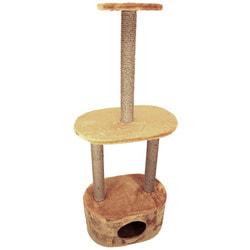 Smartpet Домик для кошек Овальный, джут, 32х52х135см