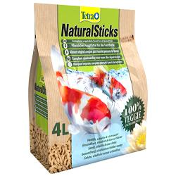 Tetra Natural Sticks растительный корм для прудовых рыб в виде палочек в форме червя