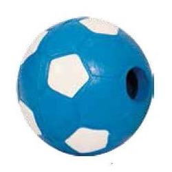 MAJOR Игрушка для собак Мяч футбольный голубой с пищалкой латекс