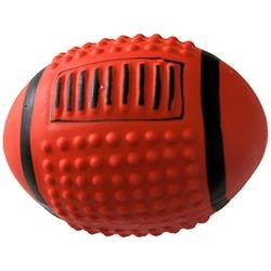 MAJOR Игрушка для собак Мяч регби с пищалкой латекс