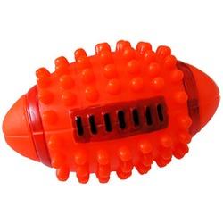 MAJOR Игрушка для собак Мяч регби с пищалкой винил