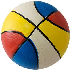 MAJOR Игрушка для собак Мяч баскетбольный цветной с пищалкой латекс