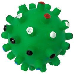 MAJOR Игрушка для собак Мяч игольчатый с пищалкой винил