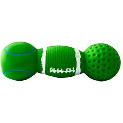 MAJOR Игрушка для собак Гантель зеленая с пищалкой латекс