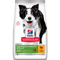 HILL'S Youthful Vitality сухой корм для пожилых собак средних пород с курицей