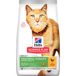 HILL'S Youthful Vitality сухой корм для пожилых кошек с курицей