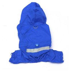 Smartpet Дождевик для мелких пород собак с капюшоном синий