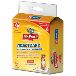 Mr.Fresh Super Гелевые подстилки максимальной впитываемости