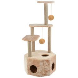 Smartpet Домик когтеточка для кошек с большим домиком, 4 яруса, 51х51х123см