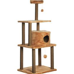 Smartpet Домик когтеточка для кошек Круглый с игрушкой и лежанкой, 65х50х153см