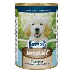 Happy Dog Консервы для щенков с нежной телятиной, печенью, сердцем и рисом