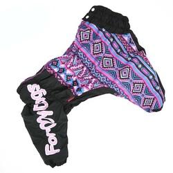 ForMyDogs Комбинезон для крупных собак Фиолетовый узор на девочку