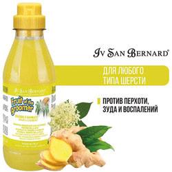 Iv San Bernard Fruit of the Grommer Ginger+Elderbery Шампунь для любого типа шерсти против раздражений и перхоти