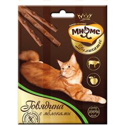 Мнямс Деликатес лакомые палочки 9 см для кошек с говядиной и яблоком