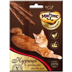 Мнямс Деликатес лакомые палочки 9 см для кошек с курицей и лесными ягодами