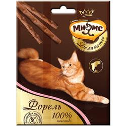 Мнямс Деликатес лакомые палочки 9 см для кошек с форелью