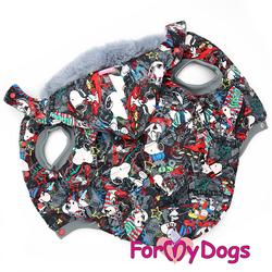 ForMyDogs Куртка для крупных собак Снупи со съемным капюшоном