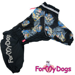 ForMyDogs Комбинезон для больших собак Череп черный на мальчика