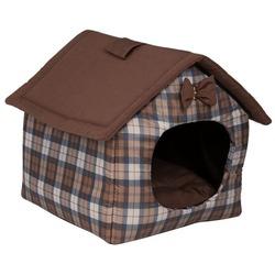 Lion Домик для животных БУДКА с отстегиваемой крышей коричневый