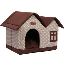 Lion Мягкий домик для собак и кошек Дом коричневый