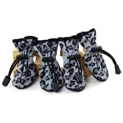 ForMyDogs Обувь для мелких собак на нескользящей подошве Темный Леопард