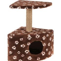 Smartpet Домик для кошек угловой с полкой, обмотка джут, 39х39х62см