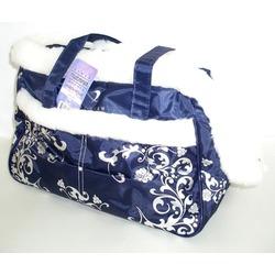 DOGMAN Сумка - переноска теплая с мехом для собак и кошек №5М, синяя